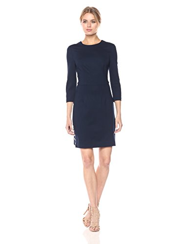 Trina Turk Women's Flush 3/4 Sleeve Ponte Dress