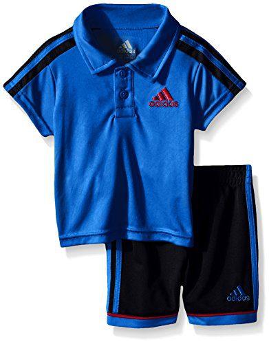 adidas Baby Boys' Pitch Short Set, Shock Blue, 12 Months