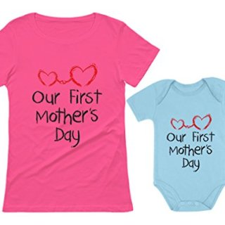 Our First Mother's Day Outfit for Mom & Baby Matching Set