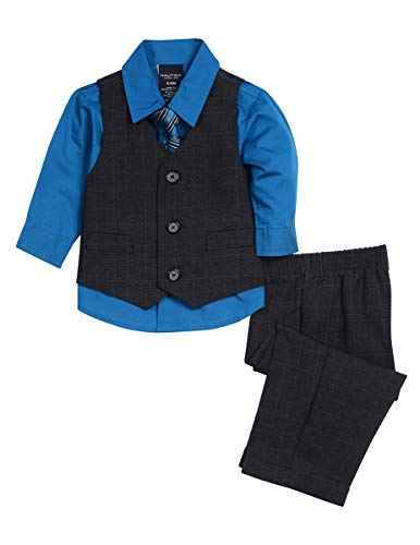 Nautica Dressy Vest Set, Blue/Grey, 6-9 Months