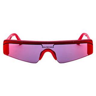 Balenciaga Women's Red Acetate Sunglasses