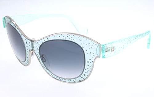 Balenciaga SUNGLASSES shiny light blue Frame smoke Lens