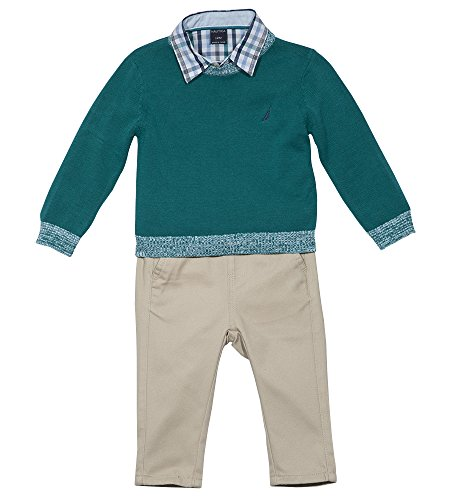 Nautica Baby Boys' Long Sleeve Button Down Shirt