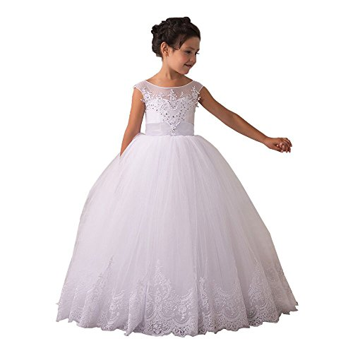 Flower Girls Dresses Long Vintage Lace First Communion