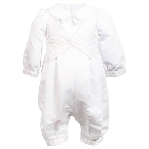 NIMBLE Baby Boys Newborn Christening Baptism Infant Satin Romper