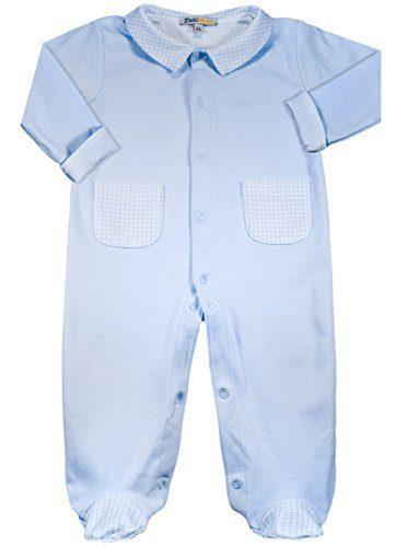 Dakomoda Baby Boys' 100% Pima Cotton Checkered Blue