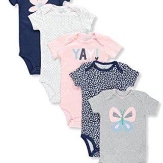Carter's Baby Girl's 5-Pk Bodysuits Flower Butterfly (24M)