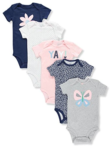 Carter's Baby Girl's 5-Pk Bodysuits Flower Butterfly (24M)