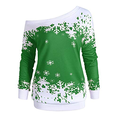 YOcheerful Christmas Womens Pullover Off Shoulder