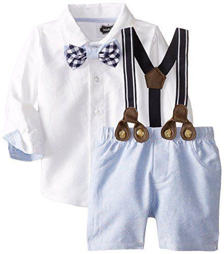 Mud Pie Baby-Boys Newborn Suspender Short Set