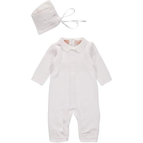 0eadadcbab165 Baby Boy's Christening Outfit with Bonnet Hat - Cross Detail Clout ...