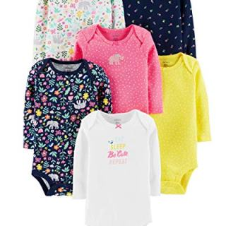 Carter's Unisex Baby Long-Sleeve Bodysuits