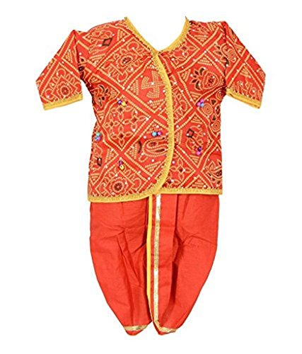 FOCIL DIWALI SPECIAL Red Gujrati Dress for Baby Boys
