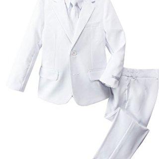 Spring Notion Boys' Modern Fit White Dress Suit Set 14