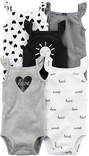 Carter's Baby Girls' 5 Pack Flutter Sleeve Original Bodysuits 9 Months