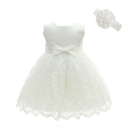 Moon Kitty Baby Girls Embroideries Baptism Dresses