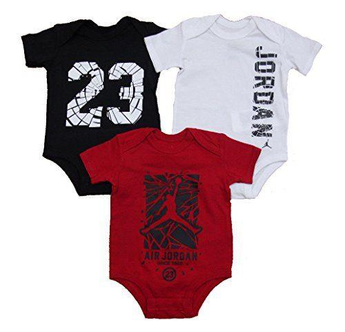 f6cbb1186cdcd8 Nike Jordan Infant New Born Baby Bodysuit 3 Pcs Layette Set Clout ...