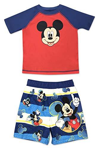 Toddler Boy Mickey Mouse Rash Guard Set 3T