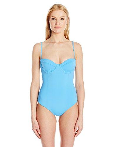 Mara Hoffman Women's Underwire One Piece Swimsuit, Periwinkle, Small