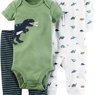 Carter's Baby Boys' 3 Piece Dinosaur Set Newborn