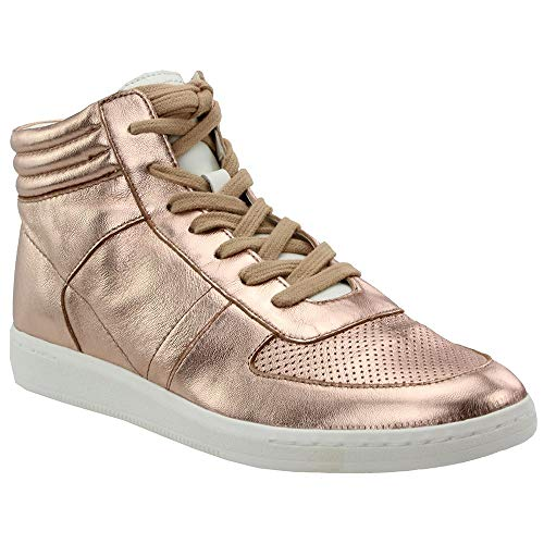 Dolce Vita Women's NATE Sneaker, Rose Gold Leather