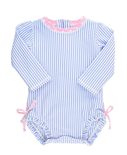 RuffleButts Baby/Toddler Girls Long Sleeve One Piece Swimsuit