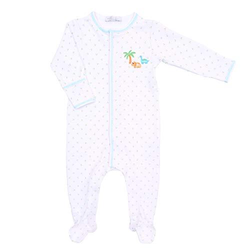 Magnolia Baby Baby Boy Jurassic Embroidered Footie Blue 3 Months