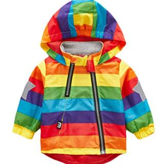 Boy and Girl Reflective Safety Jacket Outerwear Colorful Printed
