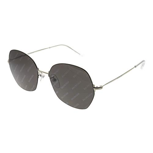 Balenciaga Sunglasses Silver and Grey Mirror Lens 58 mm