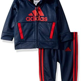 adidas Baby Boys BOS Tricot Jogger Tracksuit 2-Piece Set