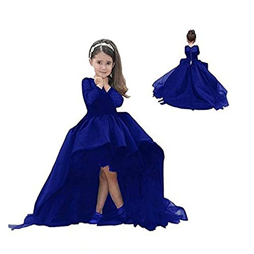 Kalos Dress Shop High Low Long-Sleeves Flower Girl Dress