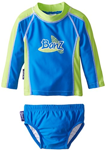 Baby Banz Baby Boys' Long Sleeve Rash Guard and Swim Diaper Set