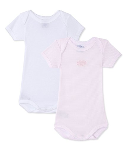 Petit Bateau Set of 2 Baby Girls Short Sleeve Bodysuits Style