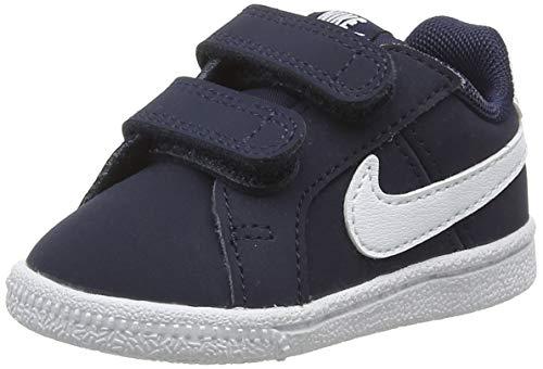 NIKE Kids' Court Royale Sneaker (TDV), Obsidian/White