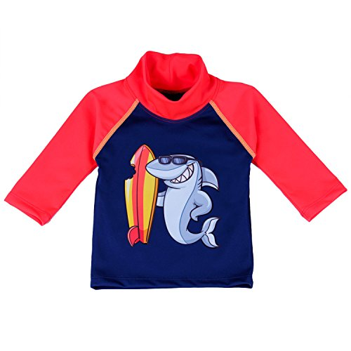 Nozone Baby Swim Shirt - UPF 50+ in Boys, Navy/Red