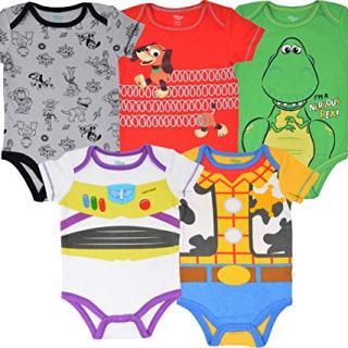 Disney Pixar Toy Story Baby Boy 5 Pack Bodysuit Buzz