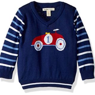 Hatley Baby Boys V-Neck Sweaters, Racer car