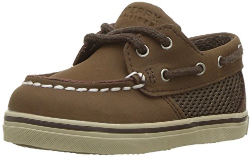 Sperry Intrepid Crib B Boat Shoe (Infant/Toddler),Cigar Brown