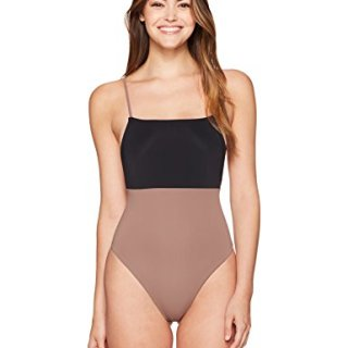 Mara Hoffman Women's High Cut One Piece Swimsuit, Black