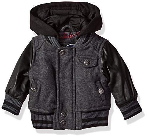 Urban Republic Baby Boys Wool Jackets, Charcoal 3-6M