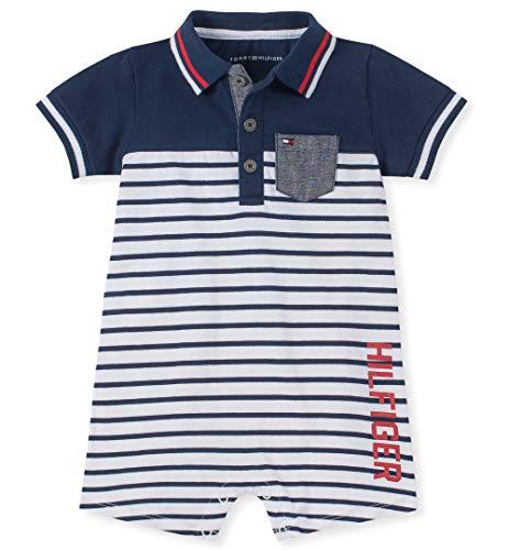 Tommy Hilfiger Baby Boys Romper, Navy/White 12M