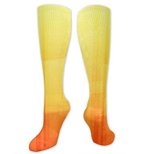 Snabeats Orange Color Block Background Compression Socks