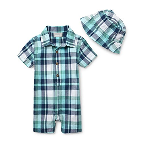 The Children's Place Baby Boys Romper and Hat Set