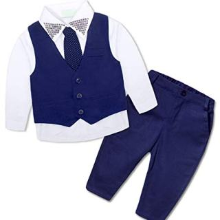AmzBarley Baby Boys Tuxedo Outfit Toddler Kids