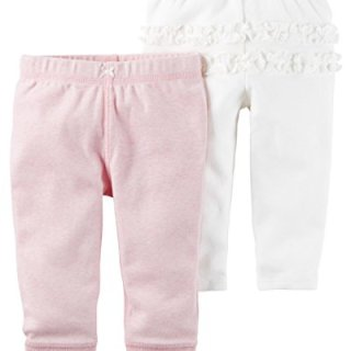 Carter's Baby Girls' 2-Pack Pants Newborn