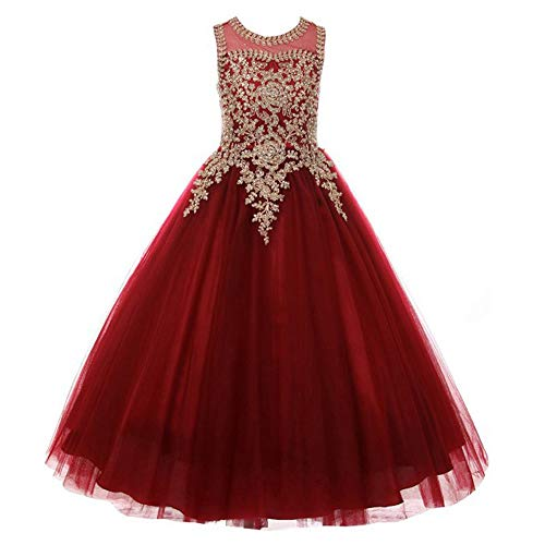 Formal Little Girls Long Pageant Dresses Prom Ball