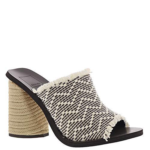 Dolce Vita Women's ALBA Heeled Sandal Black/White Woven
