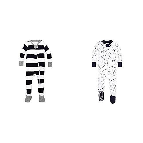 Burt's Bees Baby Baby Boys' 2 Pack Non-Slip Footed Sleeper Pajamas