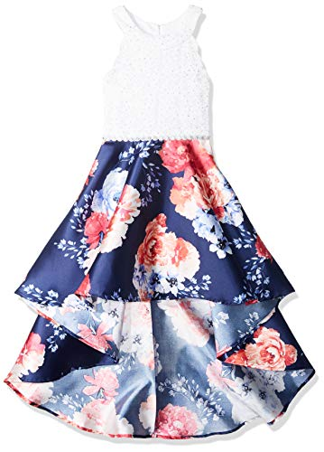 Speechless Girls' Big 7-16 Tween Sleeveless High-Low Taffeta Party Dress
