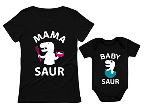 Mama Saur - T-Rex Mom & Baby Saur Matching Outfit Mommy